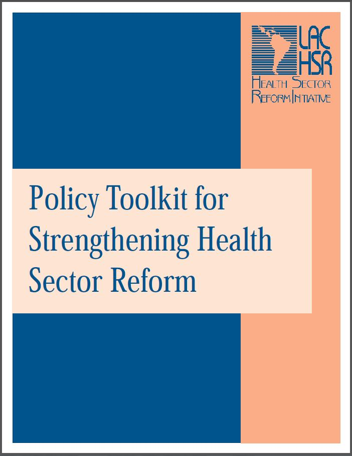 Cover Page: Policy Toolkit for Strengthening Health Sector Reform, September 2000