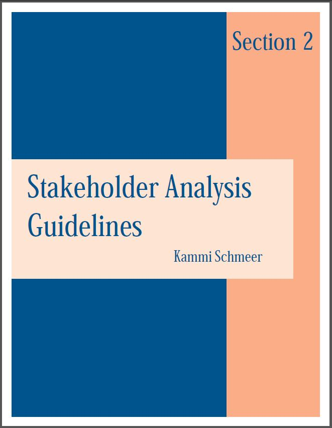Cover Of Stakeholder Analysis Guidelines