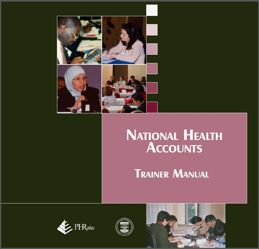 cover page of national health accounts trainer manual