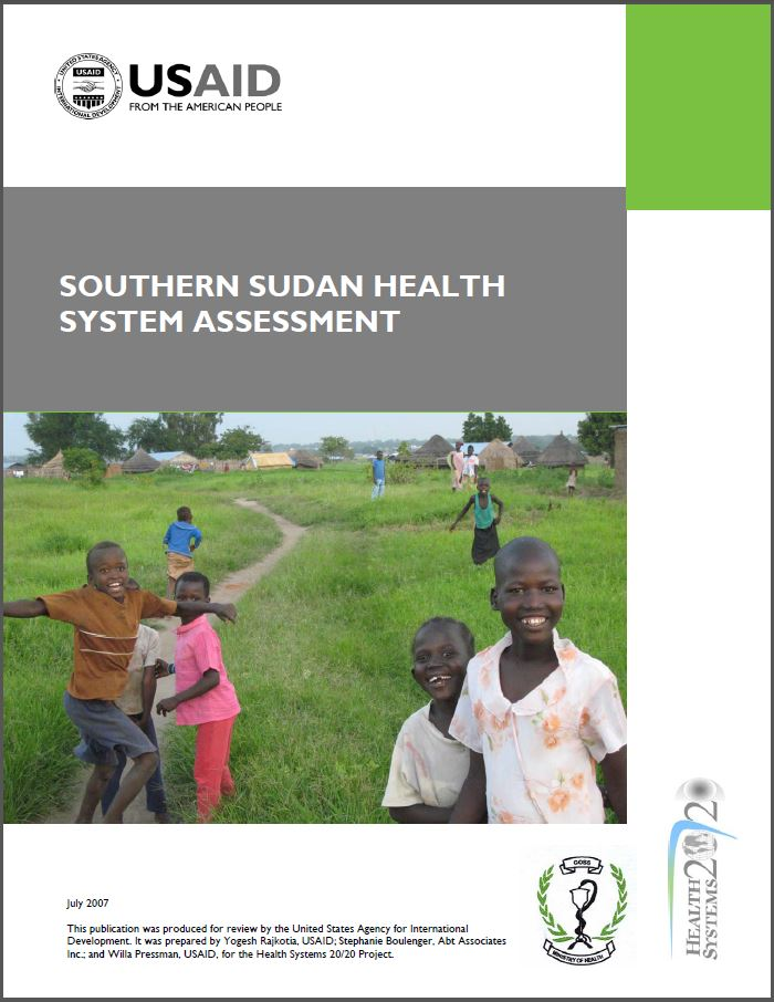 Cover Page: Southern Sudan Health System Assessment