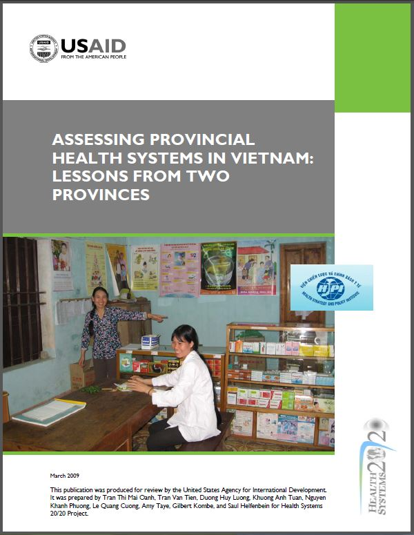 Cover Page: Assessing Provincial Health Systems in Vietnam: Lessons from Two Provinces