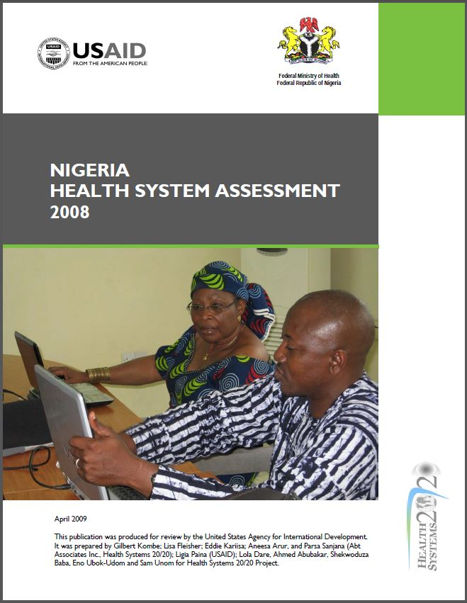 Cover Page of Nigeria Health System Assessment 2008
