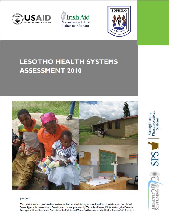 Cover Page: Lesotho Health Systems Assessment 2010