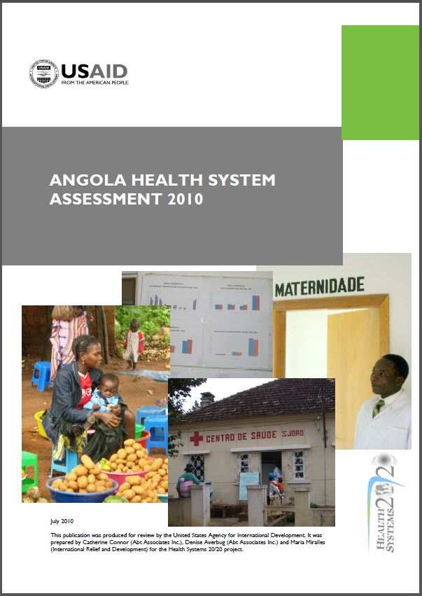 Cover Page of Angola Health System Assessment 2010