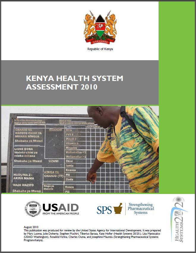 Cover Page of Kenya Health Systems Assessment 2010