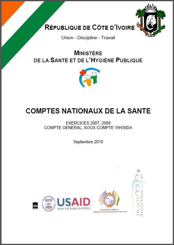 Cover Page: Comptes Nationaux de la Sante République de Côte D'ivoire