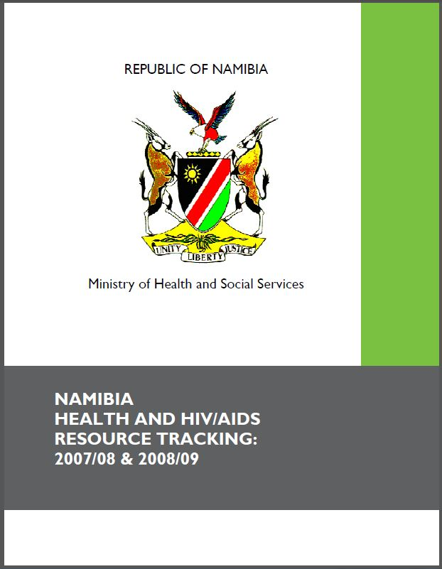 Cover Page: Namibia Health and HIV/AIDS Resource Tracking: 2007/08 & 2008/09