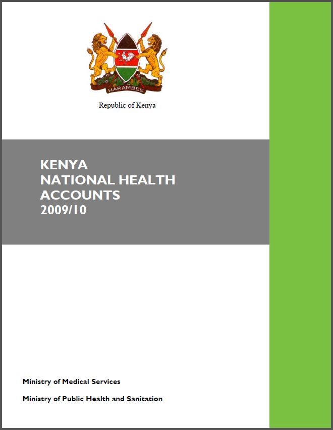 Cover Page of Kenya National Health Accounts 2009/10