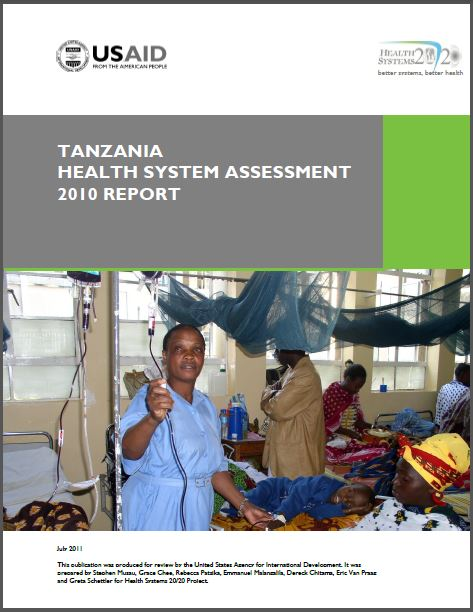 Cover Page of Tanzania Health System Assessment 2010 Report