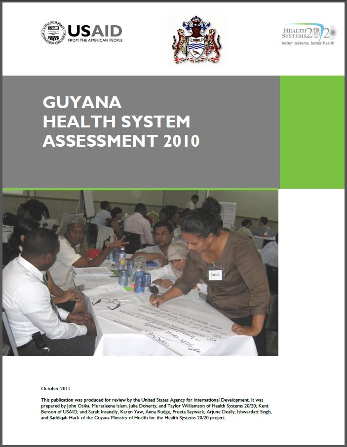 Cover page of Guyana Health System Assessment 2010