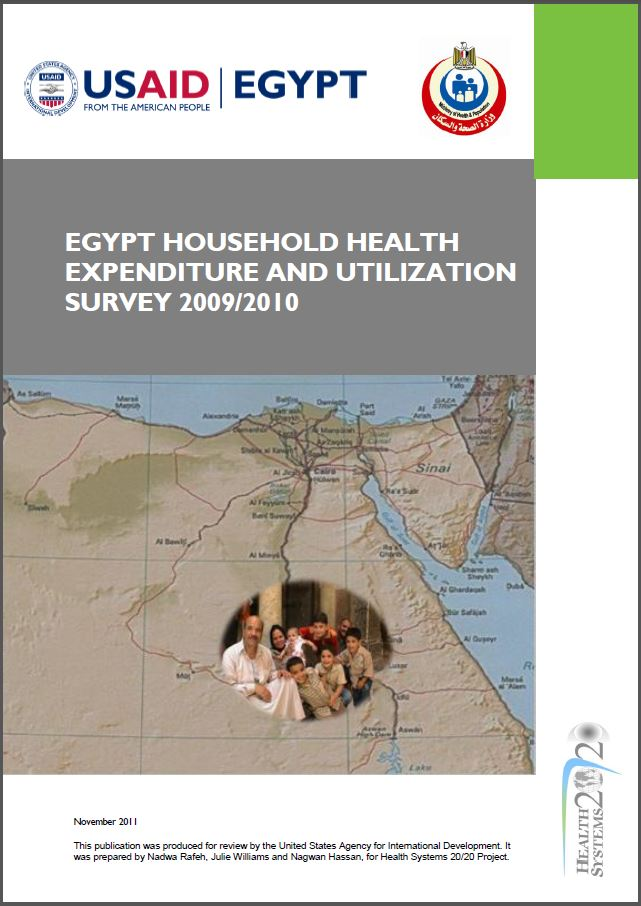 cover page ofEgypt Household Health Expenditure and Utilization Survey 2010