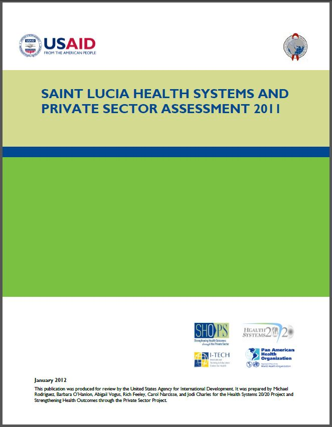Cover Page of Saint Lucia Health Systems and Private Sector Assessment 2011