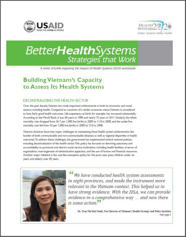 First Page: Building Vietnam's Capacity to Assess Its Health Systems