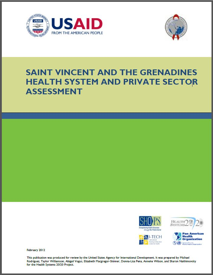 Cover Page: Saint Vincent and the Grenadines Health Systems and Private Sector Assessment