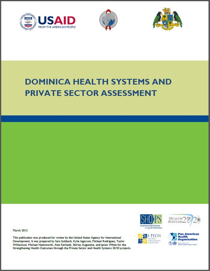 Cover Page: Dominica Health Systems and Private Sector Assessment