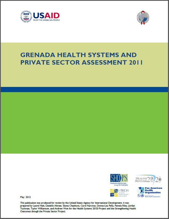 Cover Page: Grenada Health Systems and Private Sector Assessment 2011