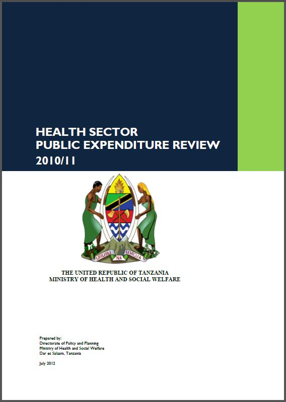 Cover Page: Health Sector Public Expenditure Review, 2010/11