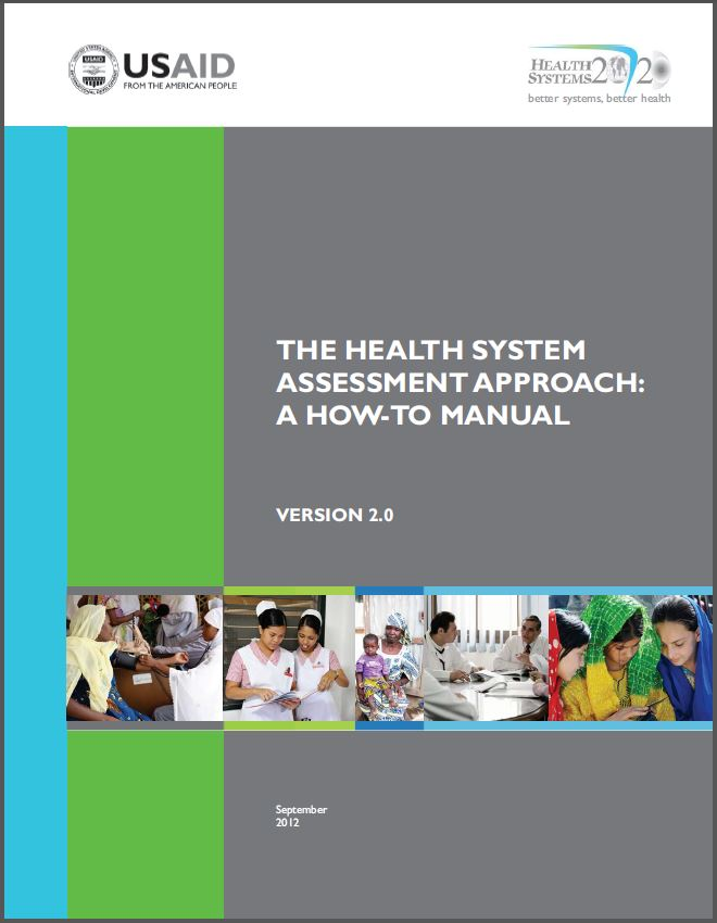 Cover Page of The Health System Assessment Approach: A How-to Manual Version 2.0