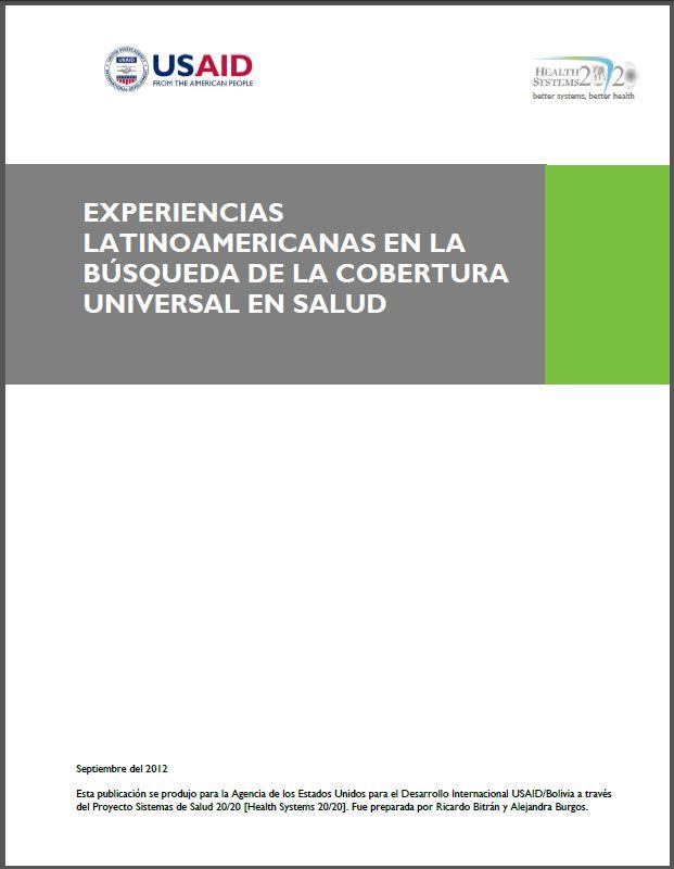 Cover Page: Experiencias Latinoamericanas en la Búsqueda de la Cobertura Universal en Salud
