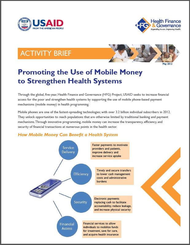 First Page: Promoting the Use of Mobile Money to Strengthen Health Systems