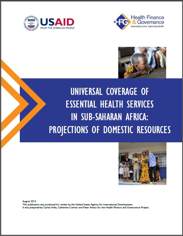 Cover Page: Universal Coverage of Essential Health Services in Sub-Saharan Africa: Projections of Domestic Resources