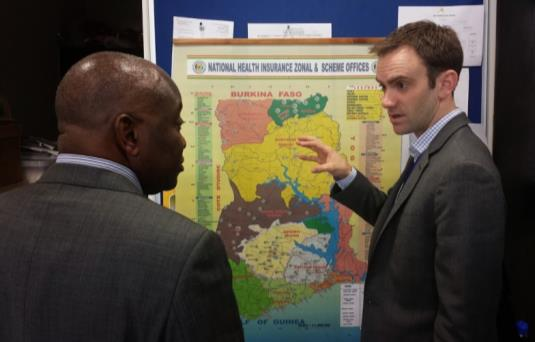 HFG's Nathan Blanchet reviewing the NHIS coverage map with Director of Management Information Systems Perry Nelson. Photo: Andrew Won.