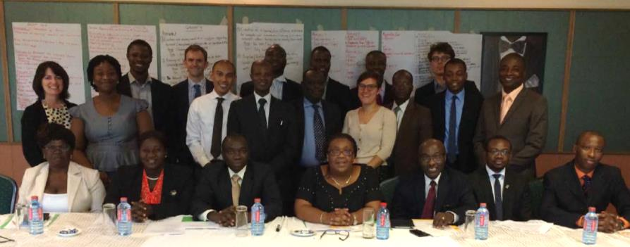 """NHIA directors and managers serve as the steering committee for the development of a monitoring and evaluation dashboard. """"The work is not done – it is a first step. As a committee, we have a lot more work to do..."""" – Dr. Lydia Dsane-Selby on the committee's role after a workshop on dashboard development facilitated by HFG. Photo: HFG."""