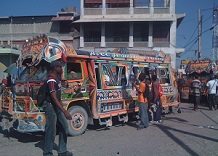 photo of busy street scene in Port au Prince, Haiti