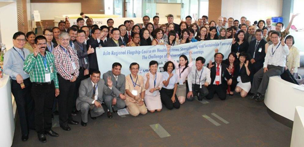 Participants at the Asia Flagship Course on Health Systems Strengthening and Health Finance