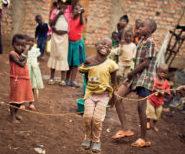 Students in slum of Bukavu, DR Congo