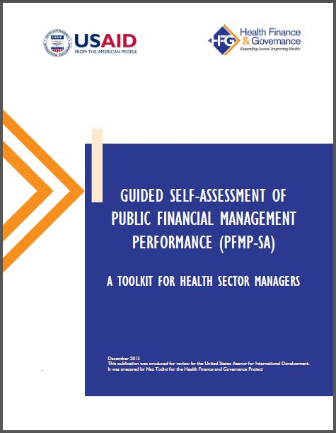 Cover Page: Guided Self-Assessment of Public Financial Management Performance