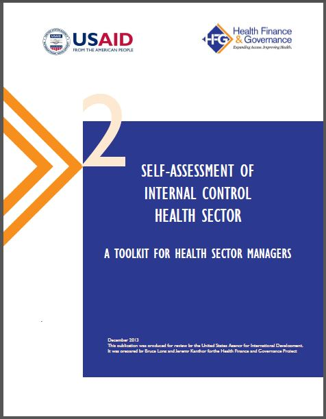 Cover Page: Self-Assessment of Internal Control Health Sector
