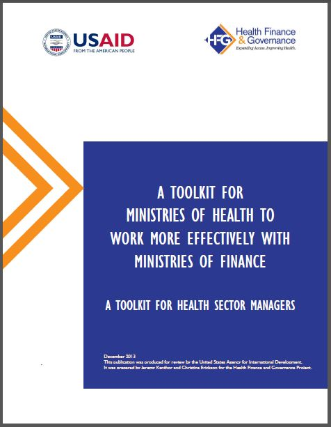 Cover Page: Introduction: A Toolkit for Ministries of Health to Work More Effectively With Ministries of Finance