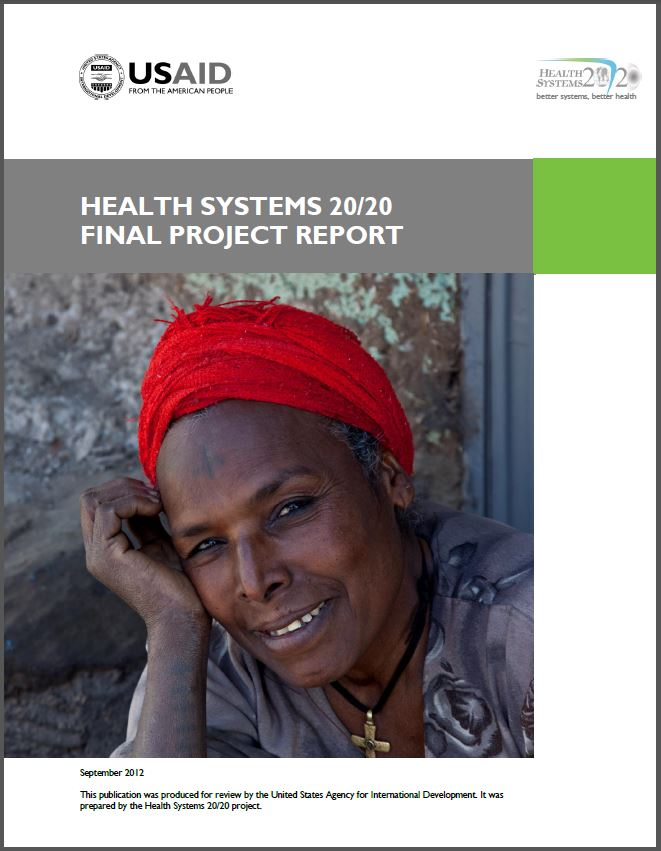 Cover Page of Health Systems 20/20 Final Project Report