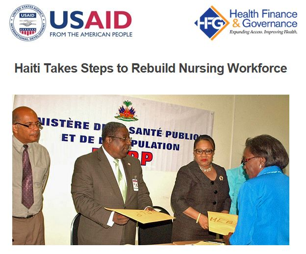 Newsletter Header: Haiti Nursing Program