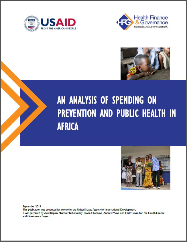 Report Cover Page: An Analysis of Spending on Prevention and Public Health in Africa