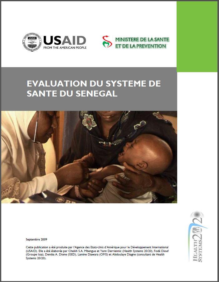 Cover Page: Evaluation du Système de Santé du Sénégal