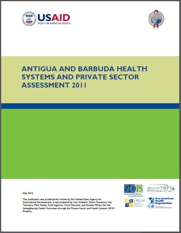Cover Page: Antigua and Barbuda Health Systems and Private Sector Assessment 2011