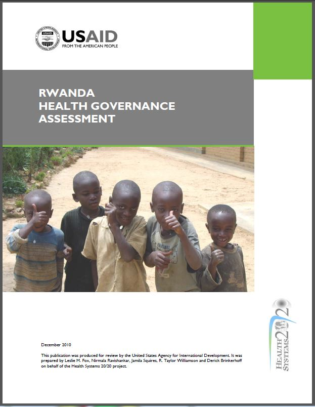 Cover Page: Rwanda Health Governance Assessment