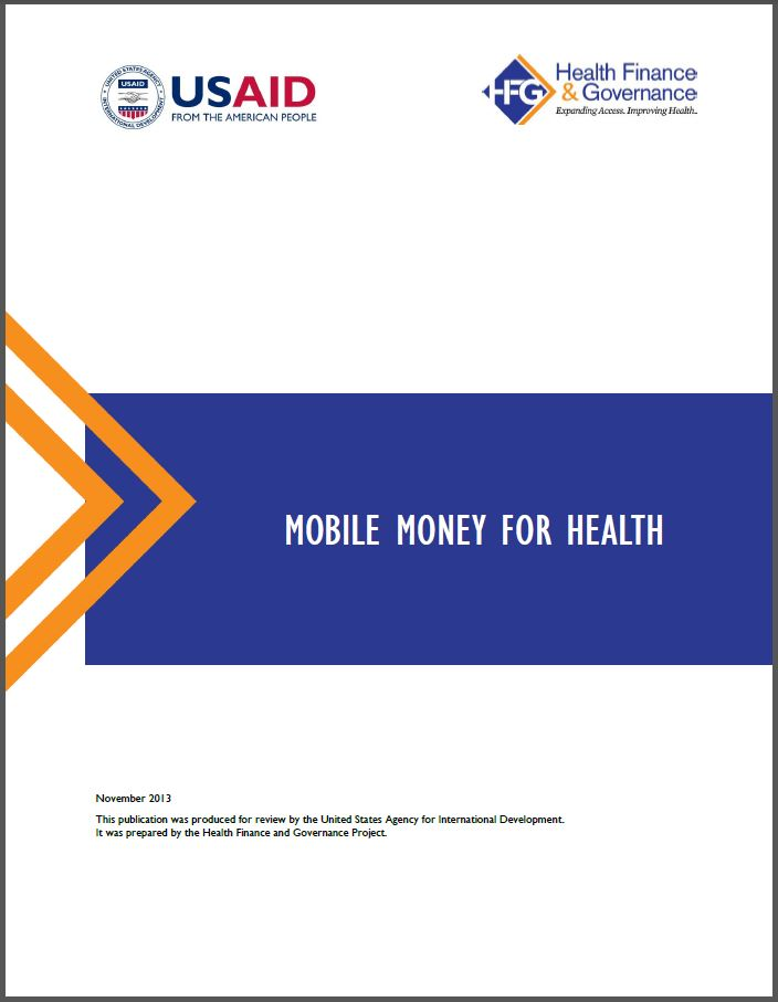 Cover Page: Mobile Money for Health