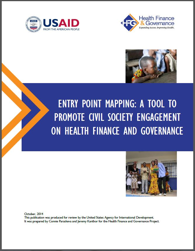 Cover Page: Entry Point Mapping: A Tool to Promote Civil Society Engagement on Health Finance and Governance