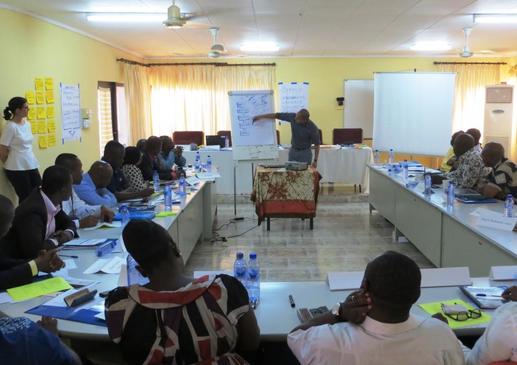 HFG's Josef Tayag facilitates a group activity at the training