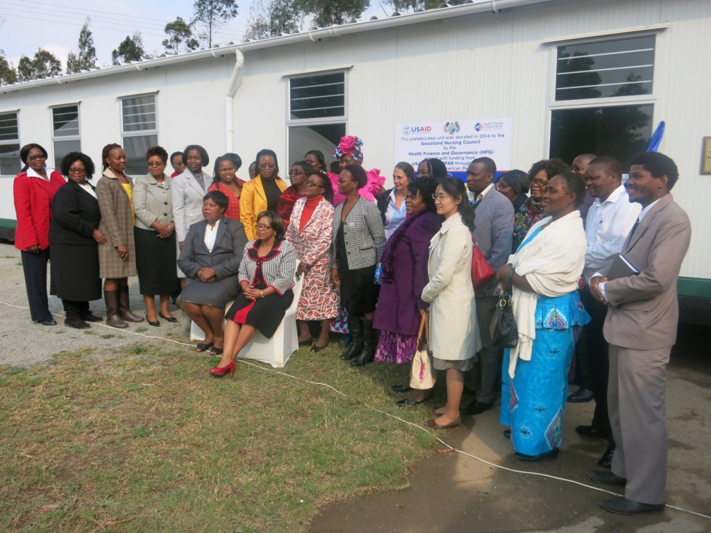 Group at launch of the Swaziland Nursing Council's office space