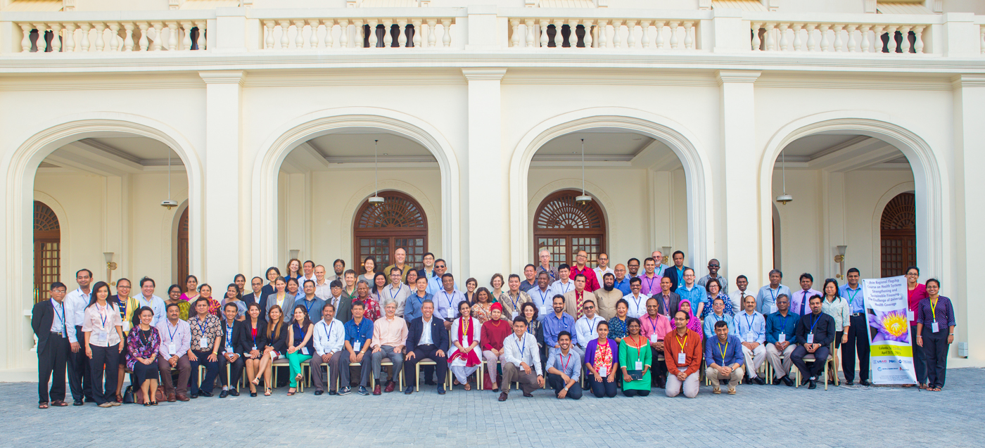 Attendees at the Asia Flagship Course on UHC, April 2015