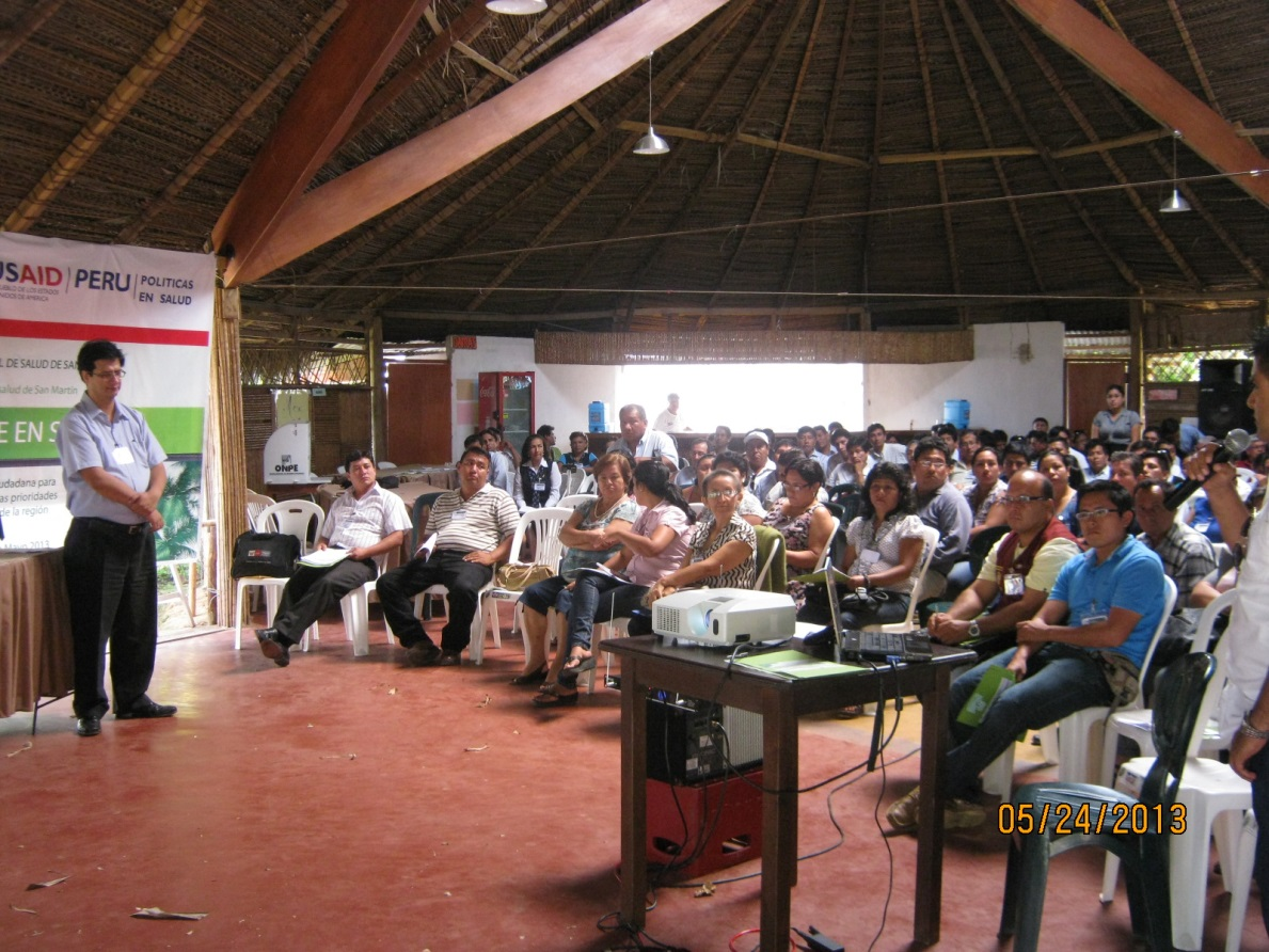 Stakeholder meeting in the San Martin Region.