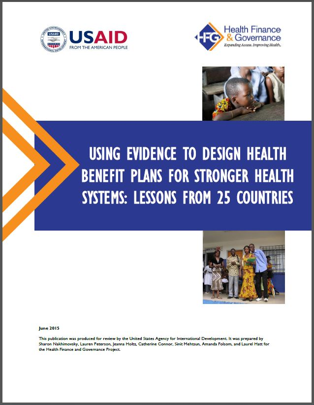 Cover: Using Evidence to Design Health Benefit Plans For Stronger Health Systems: Lessons from 25 Countries