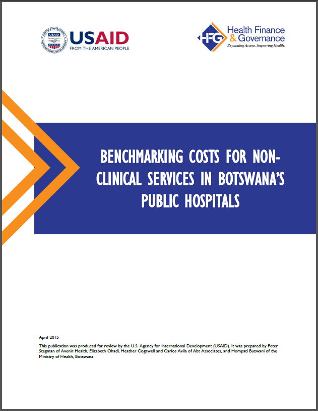 Benchmarking Costs for Botswana Hospitals screenshot