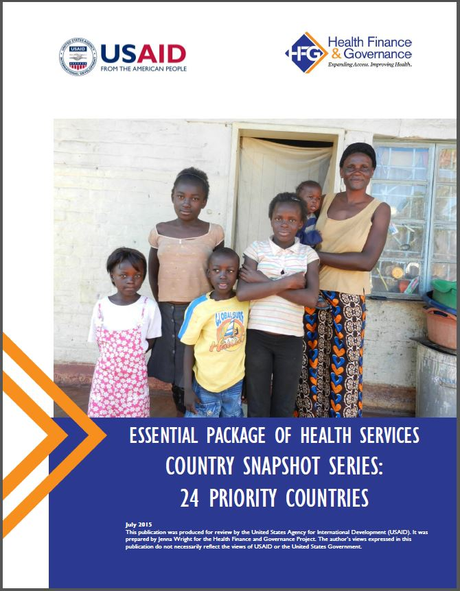 Cover Page: ESSENTIAL PACKAGE OF HEALTH SERVICES COUNTRY SNAPSHOT SERIES: 24 PRIORITY COUNTRIES