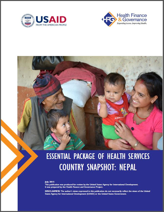 Nepal EPHS cover page