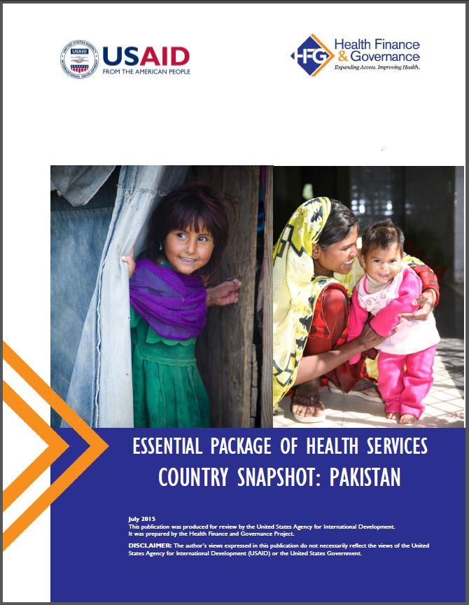 Pakistan EPHS cover page